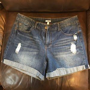 Bongo Distressed Jean Shorts